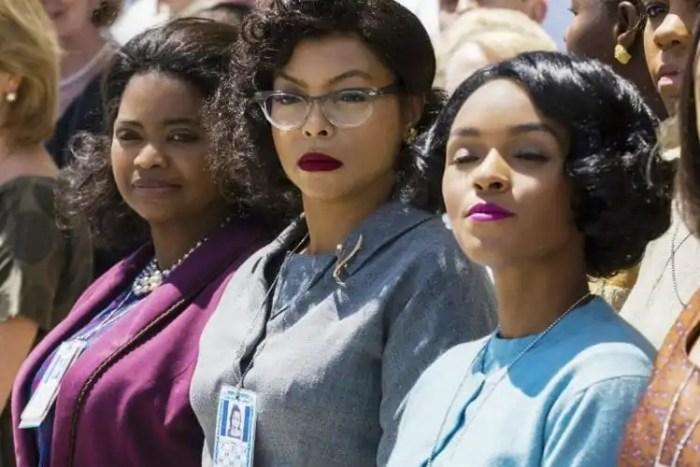 As atrizes Octavia Spencer, Taraji P. Henson e Janelle Monáe em 'Estrelas além do tempo'. Crédito: Fox Films