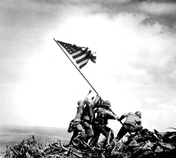 Alzamiento de Iwo Jima de Joe Rosenthal
