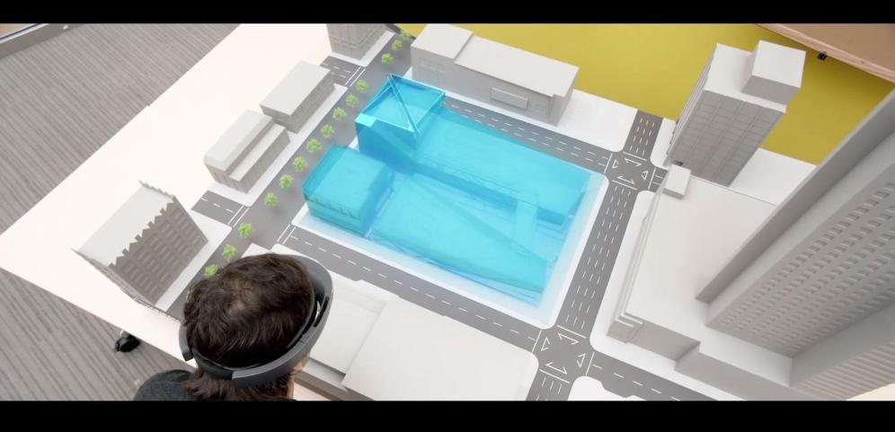 Visualizando secciones de una maqueta virtual.