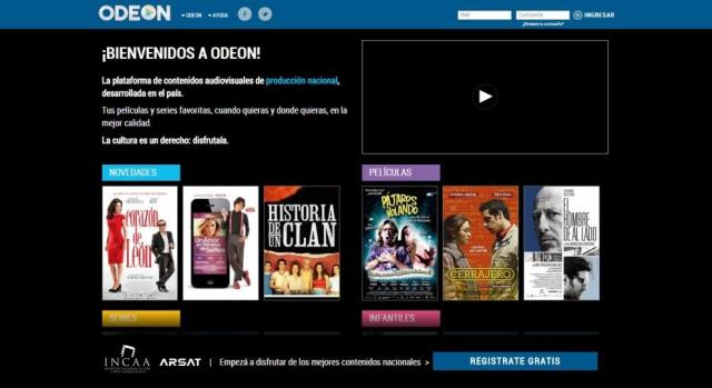 Odeon es la nueva plataforma nacional de video en demanda