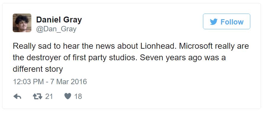 Cultura Geek Lionhead Studios Cierre 4