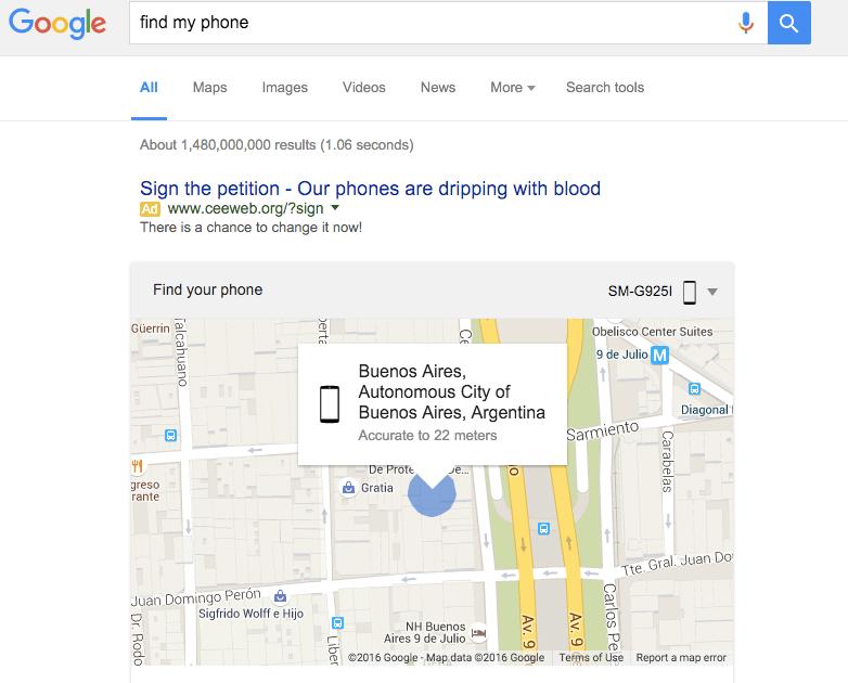 Find My Phone encontrar android CulturaGeek.com.ar