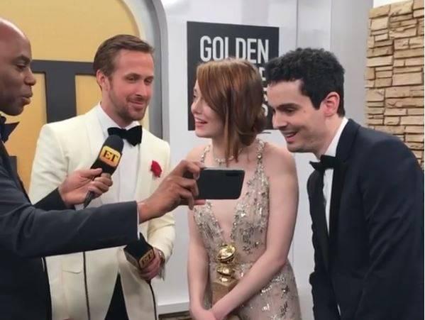 Emma Stone Golden Globes 2017 www.culturageek.com.ar