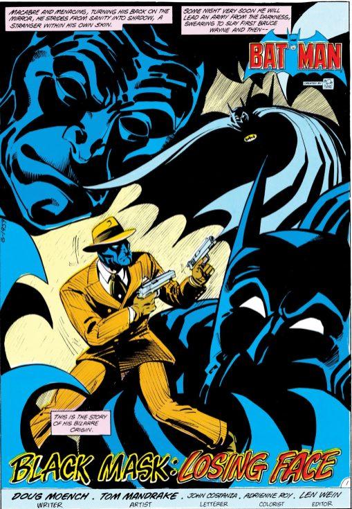 Black Mask Batman 186 Agosto 1985 1P culturageek.com.ar