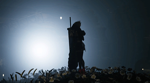 Final Fantasy VII Remake - Tifa hug