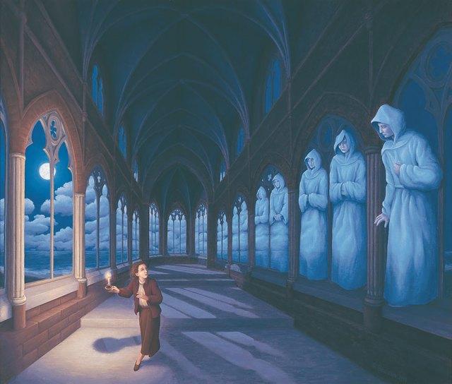 Rob Gonsalves pintura ilusion optica surrealismo 11