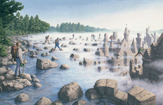 Rob Gonsalves pintura ilusion optica surrealismo 21