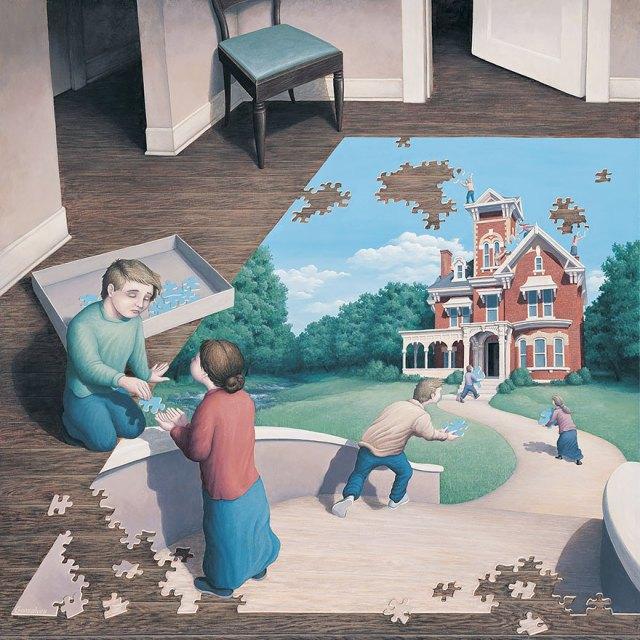 Rob Gonsalves pintura ilusion optica surrealismo 24