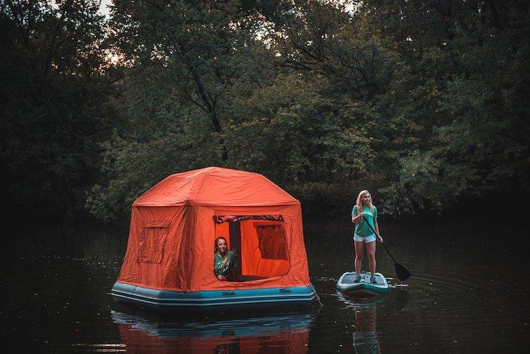 Smithfly cama casa tienda agua flotante