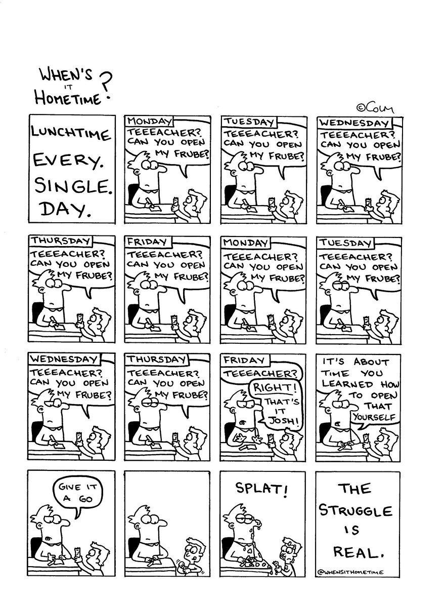 Whens it Hometime humor ilustracion clases 10