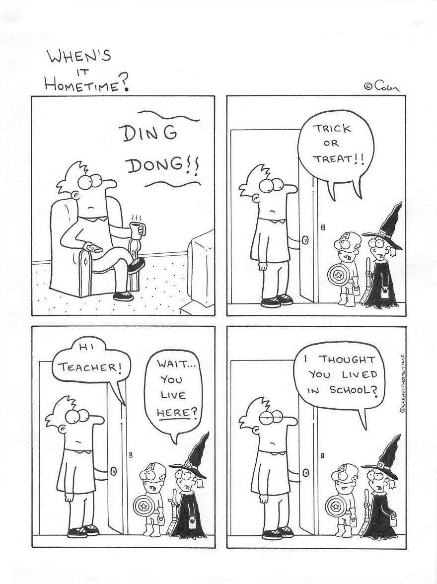 Whens it Hometime humor ilustracion clases 2