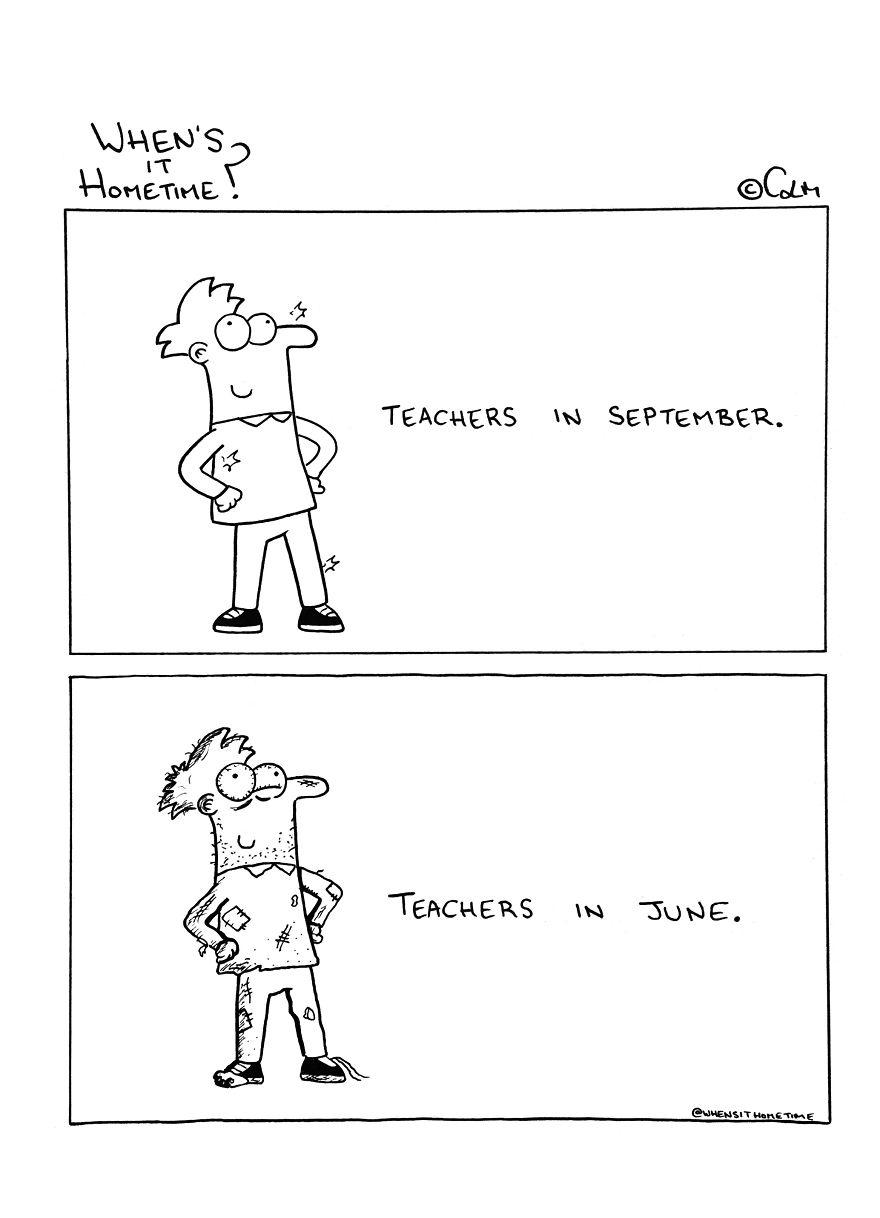 Whens it Hometime humor ilustracion clases 4
