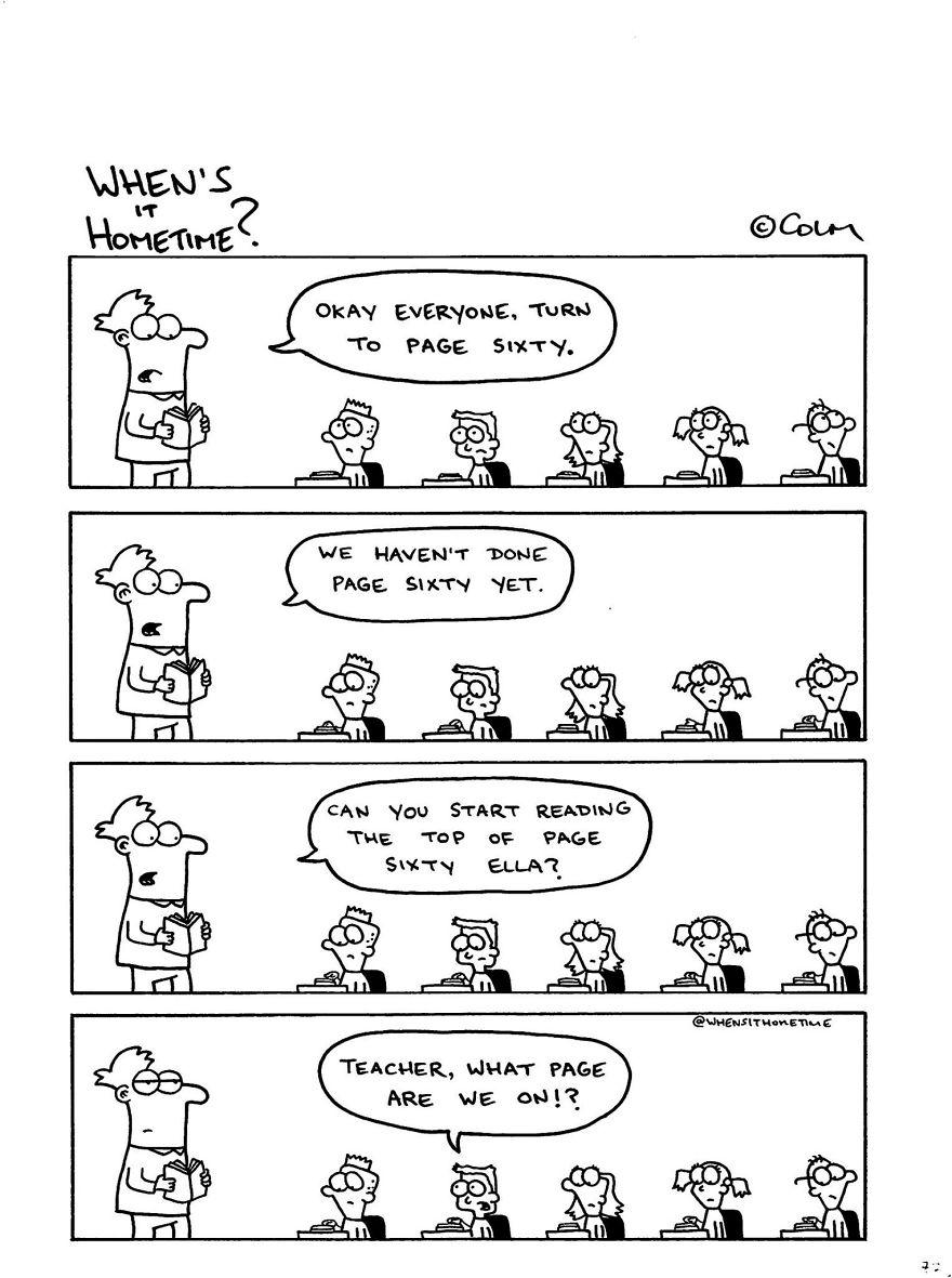 Whens it Hometime humor ilustracion clases 5