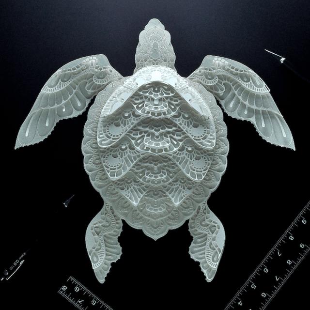 Patrick Cabral esculturas de papel 9