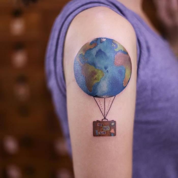 25 Tatuajes Para Amantes De Viajar Que Demuestran La Pasión Por