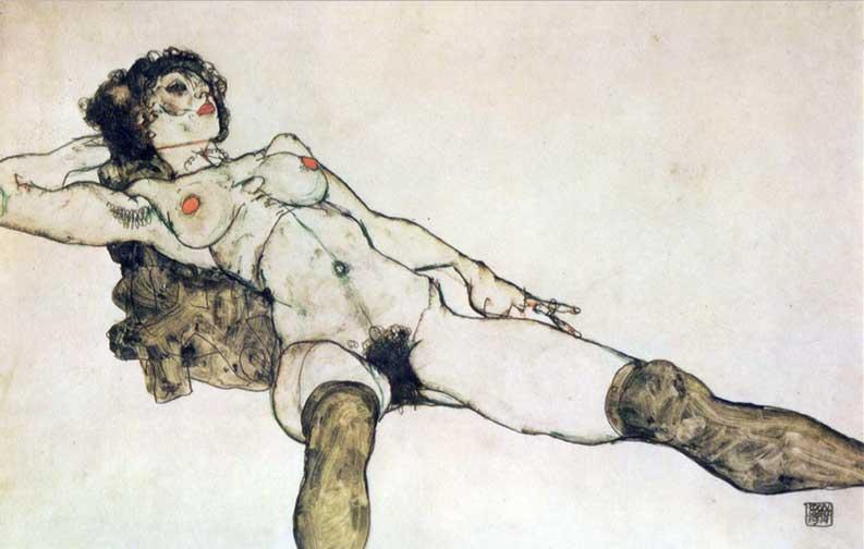Egon Schiele erotica erotic art