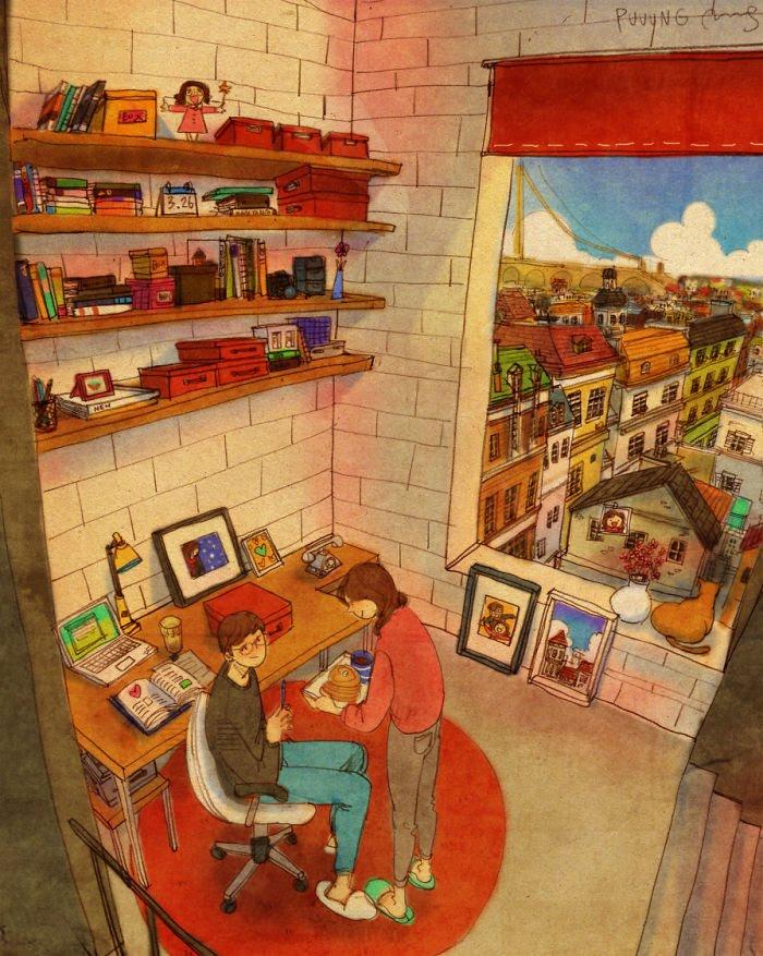 Puuung ilustraciones amor20