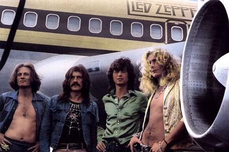Led Zeppelin private jet