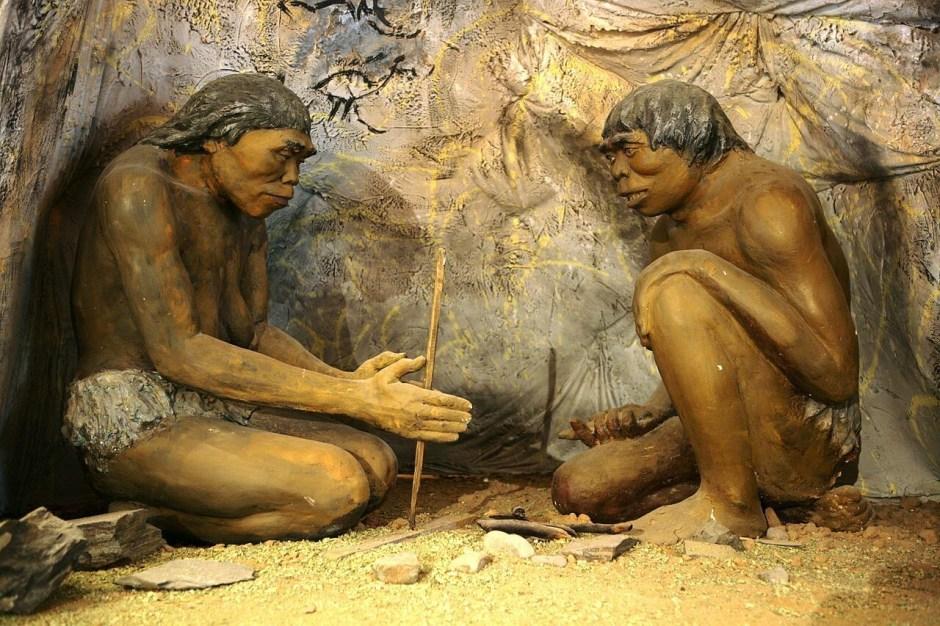 diorama museo mongolia historia cavernicola