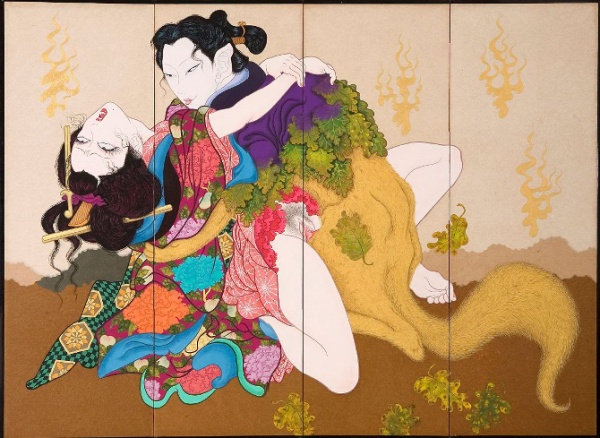 La imaginería erótica de Yuji Moriguchi combina el Manga con el arte tradicional japonés [NSFW]