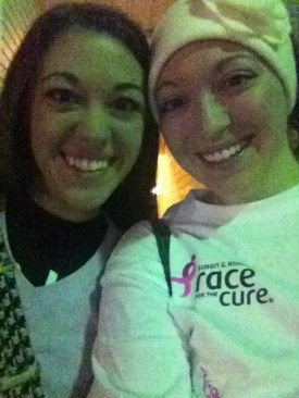 My sister and I at the Susan G. Komen 5K in Little Rock.
