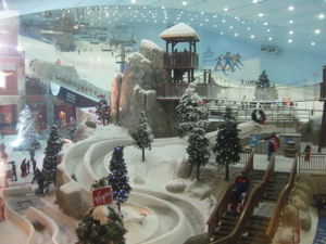 Indoor skiing at the Emirates Mall
