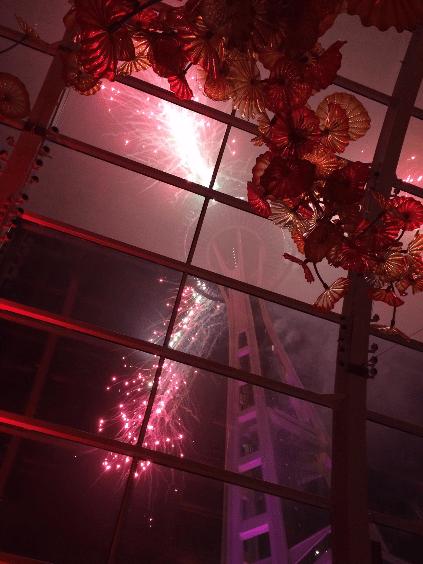 Space Needle New Year's Eve Fireworks - Seattle, Washington