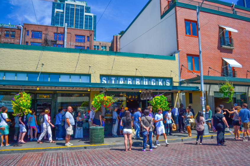 First Starbucks - Pike Place Market, Seattle, Washington