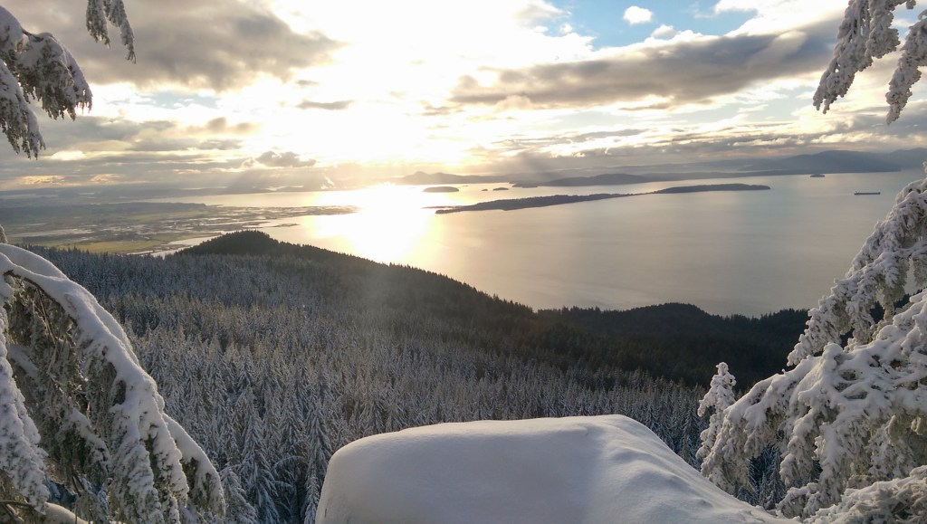 Oyster Dome on Christmas Day, Bellingham, Washington