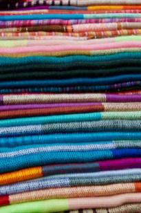 Scarves made of Alpaca or Llama hair.