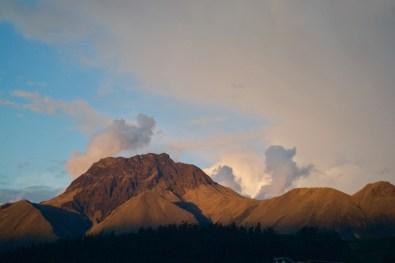 Imbabura Volcano in the sunset