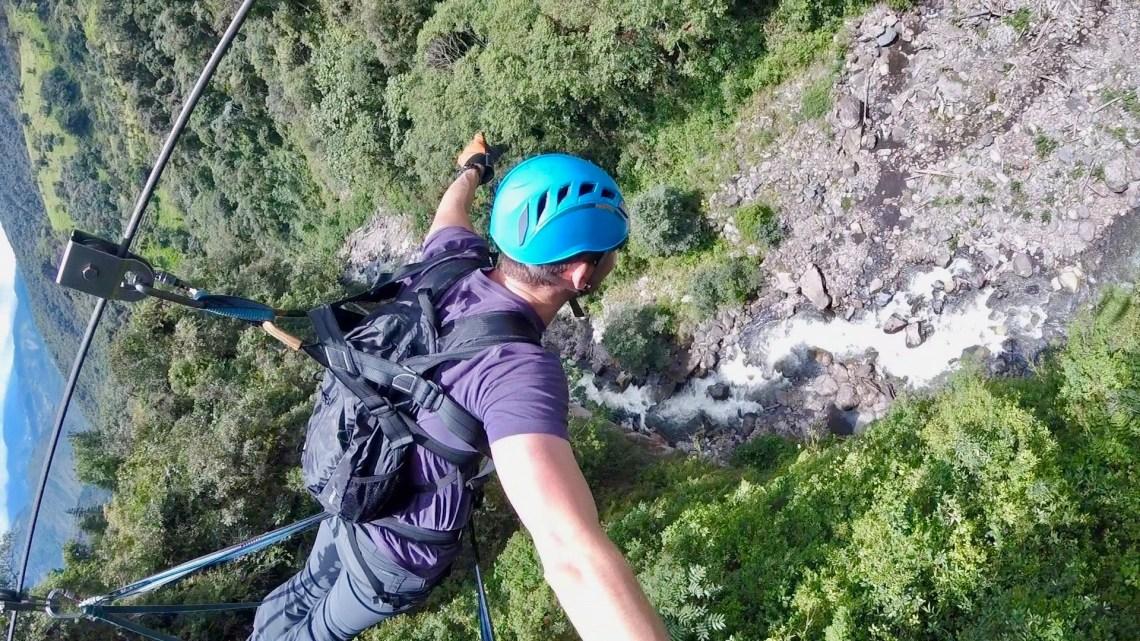 Superman Zipline Banos, Ecuador