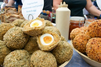 Have you tried a Scotch egg before? They looked delicious but we were highly disappointed with our first Scotch egg experience, unfortunately.