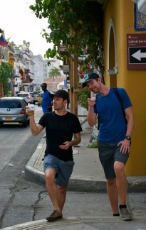 Two good buds reunited in Colombia