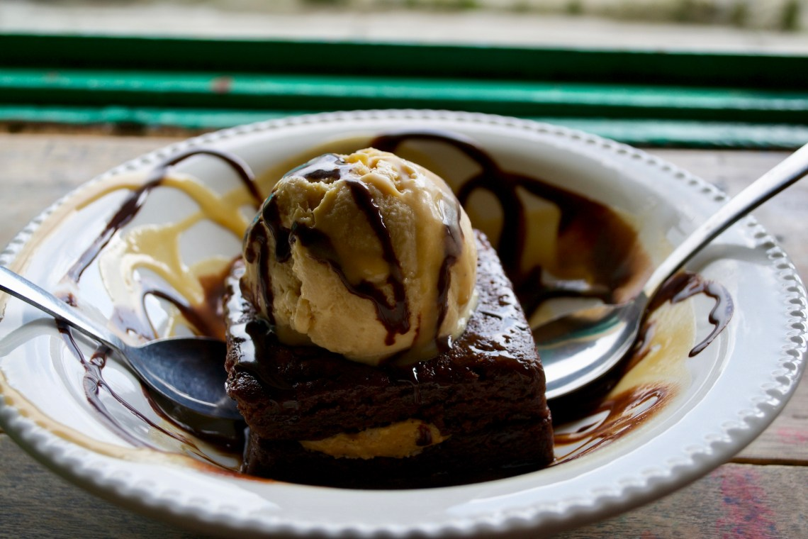 Peanut Butter Brownie at Brunch Diner in Salento, Colombia