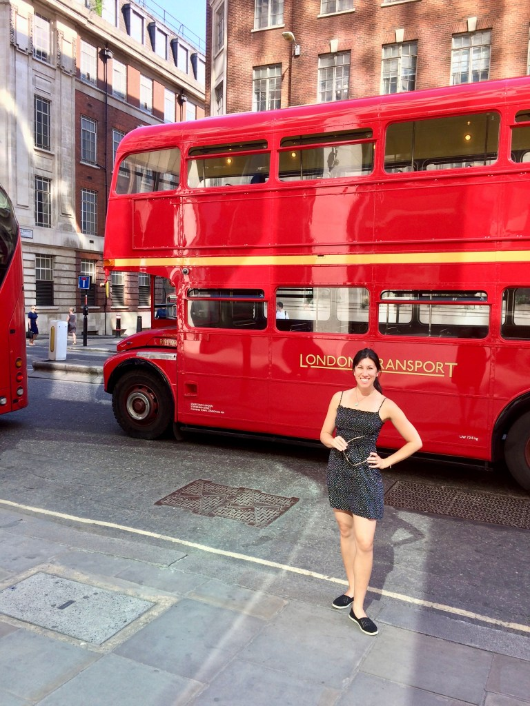 Old School Double-Decker Bus in London, UK