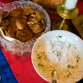 Mushrooms and Sour Cream