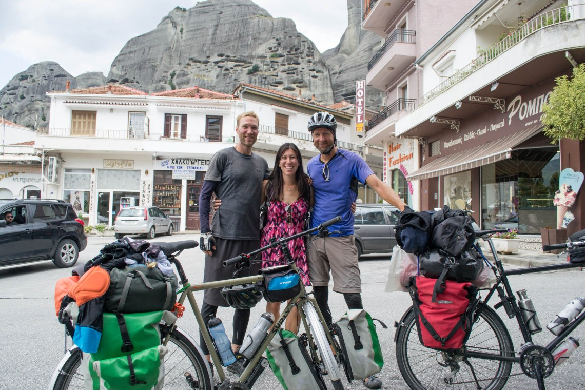 Biking in Meteora