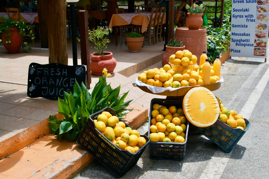 Oranges in Crete, Greece