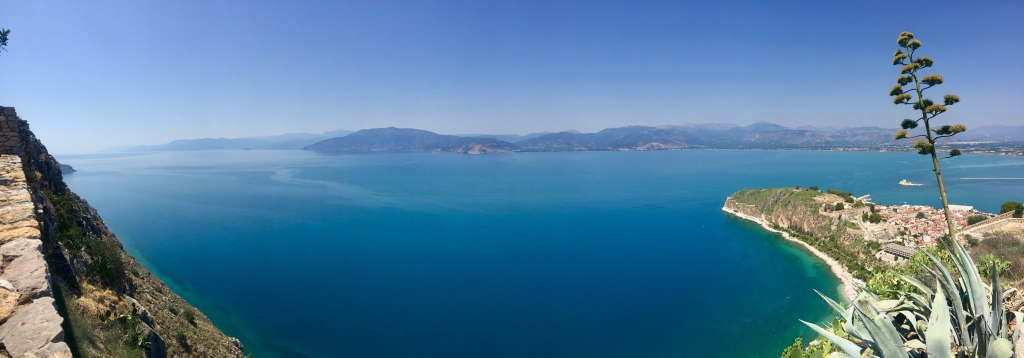 Palamidi Fortress Sea Pano - Nafplio, Greece