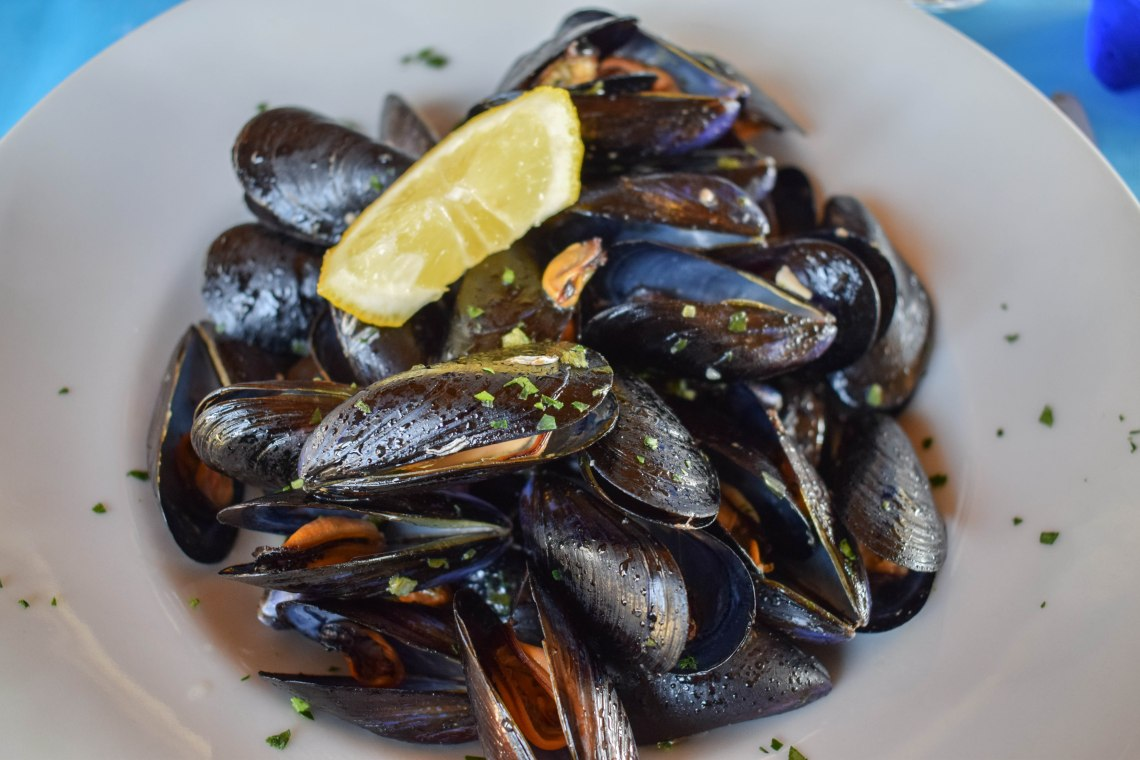 Mussels in Cinque Terre, Italy