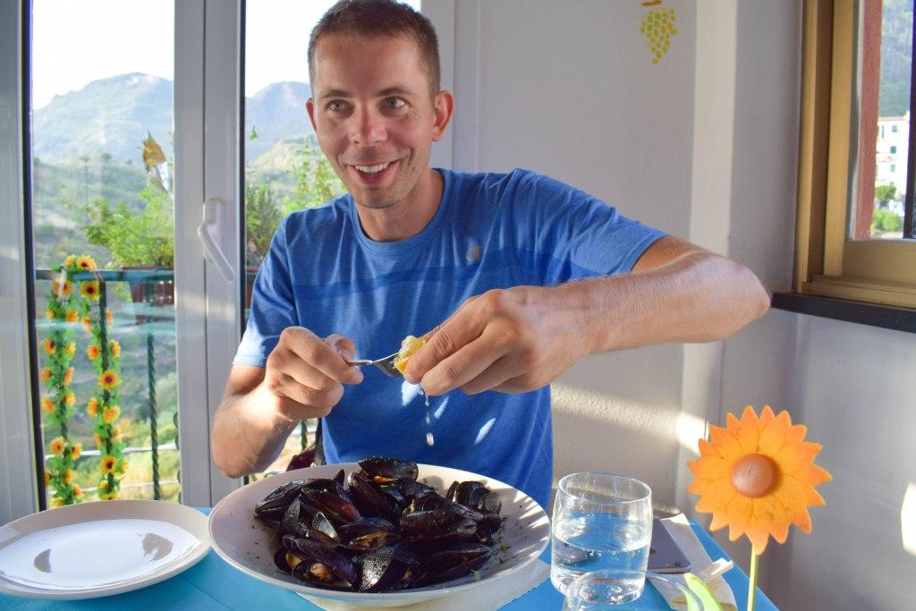 Corniglia mussels - Cinque Terre, Italy