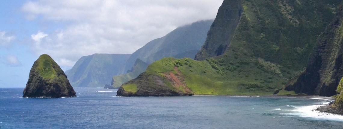 Sea Cliffs, Molokai, Hawaii