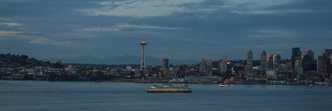 Alki, West Seattle, Washington, Space Needle