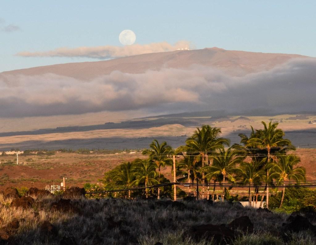 Moonrise over Haleakala, Big Island