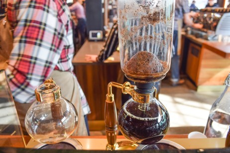 Siphoning is one of the oldest methods of coffee making, invented around the 1830's. (It's essentially a vacuum coffee brewer.)