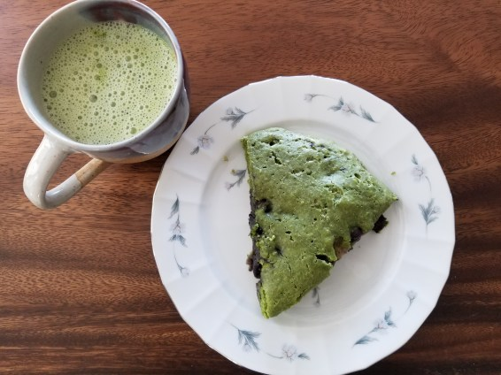 Matcha Blueberry Scones