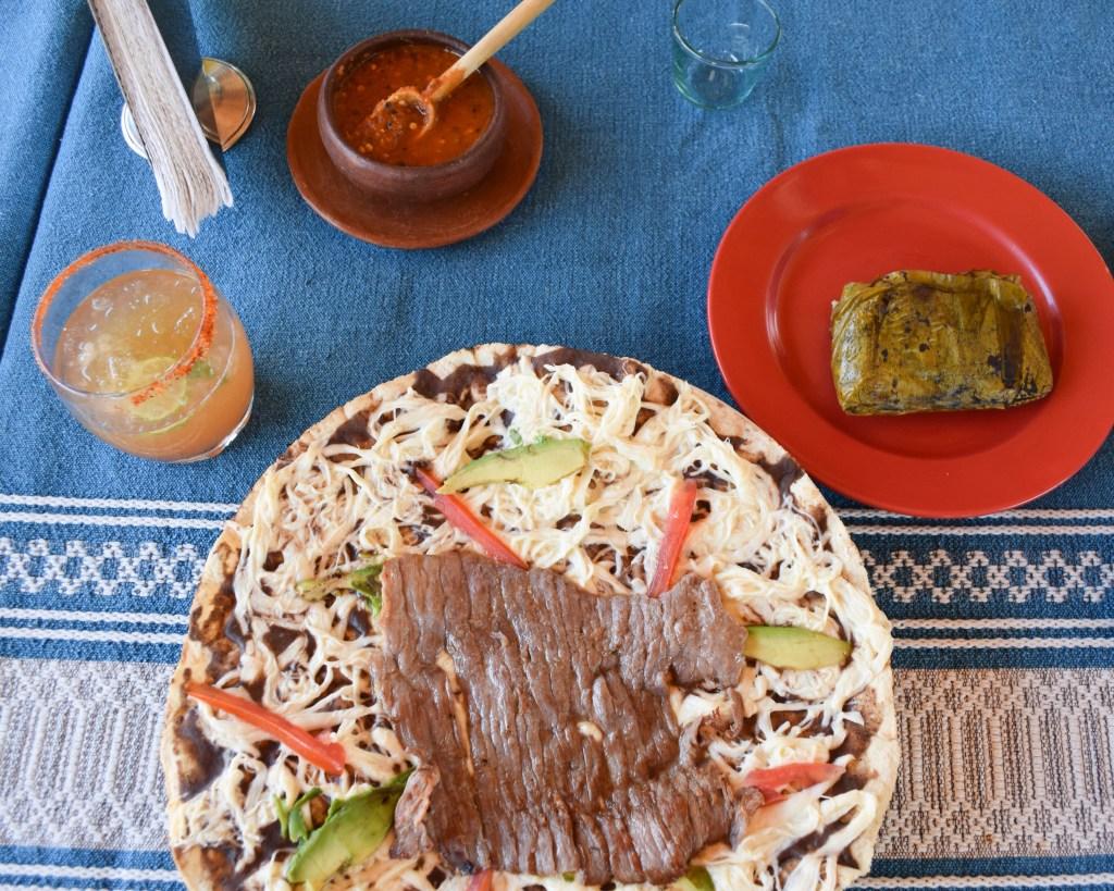 Tlayuda - Oaxaca, Mexico