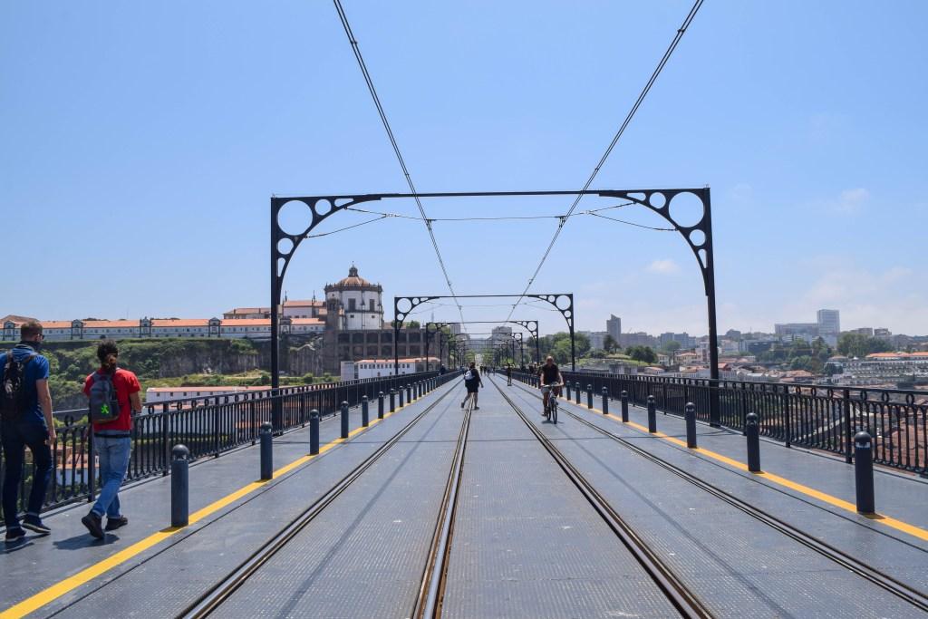 Walk Across the Dom Luis Bridge - Porto, Portugal