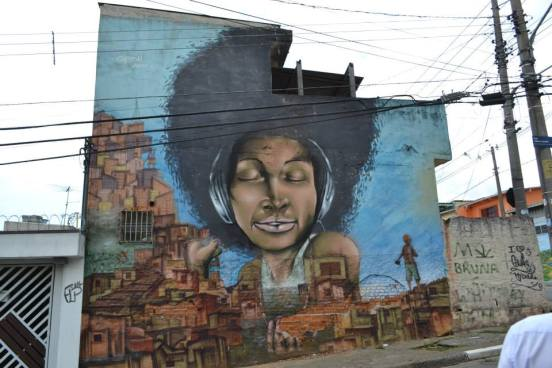 Grafite na Vila Flávia. Foto: Bia Avila